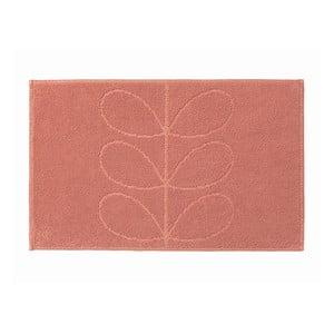 Różowy dywanik łazienkowy Orla Kiely Jacquard, 50x80 cm
