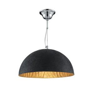 Lampa wisząca Searchlight Dome, czarna/złota