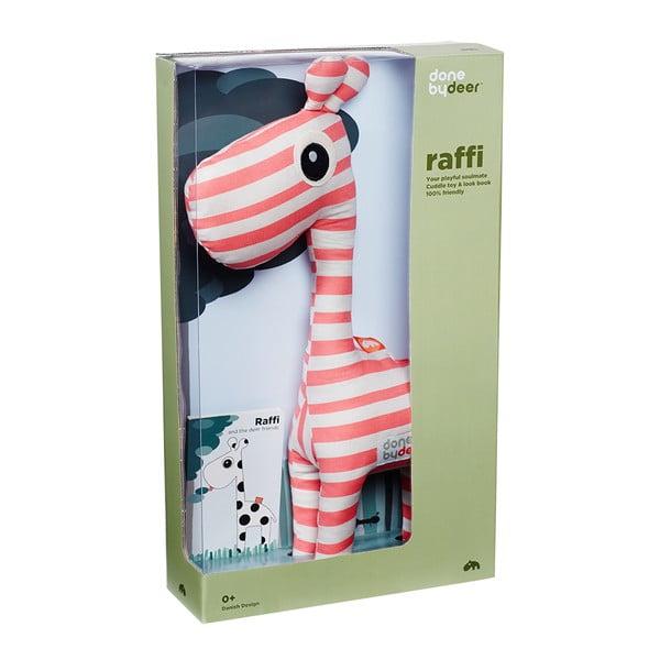 Pluszak Raffi Rapsberry z książeczką z obrazkami