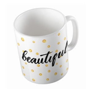 Ceramiczny kubek Hello Beautiful, 330 ml