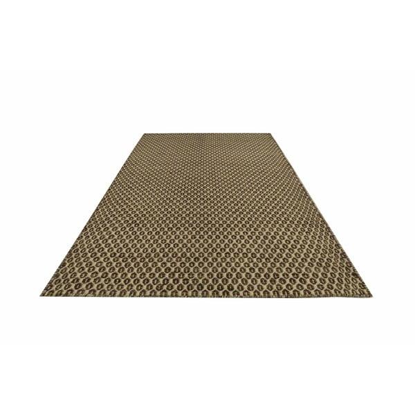 Ręcznie tkany kilim Brown Dots Kilim, 107x158 cm