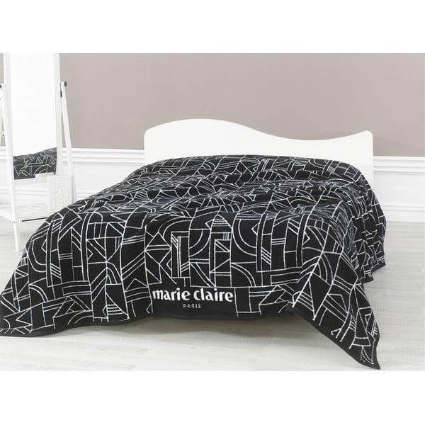 Czarny koc Richard, 200x220 cm