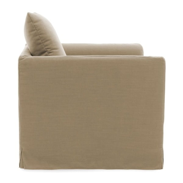 Beżowy fotel Vivonita Coraly