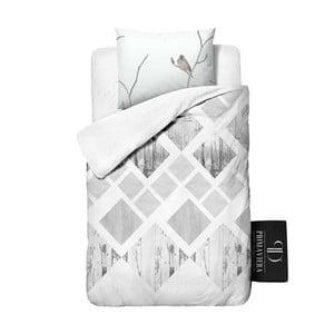 Pościel z bawełny Dreamhouse Lanscape White, 140x220 cm