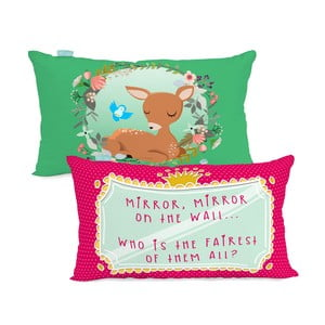 Bawełniana poszewka na poduszkę Mr. Fox Snow White, 50x30 cm