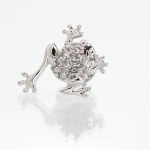 Broszka z kryształami Swarovski Elements Laura Bruni Frog