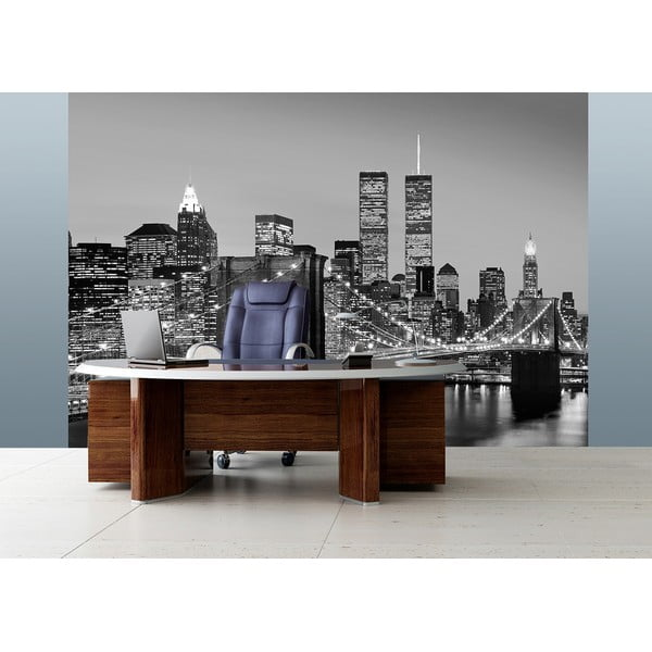 Wielkoformatowa tapeta Manhattan Skyline At Night, 366x254 cm