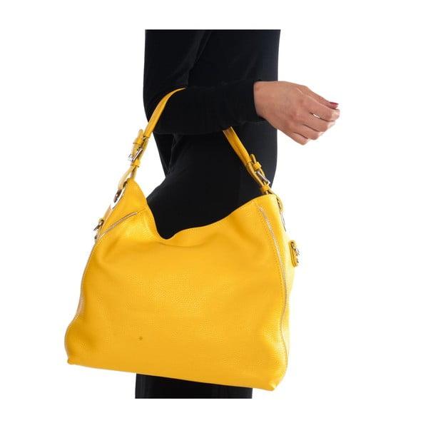 Skórzana torebka Mangotti 1139, żółta