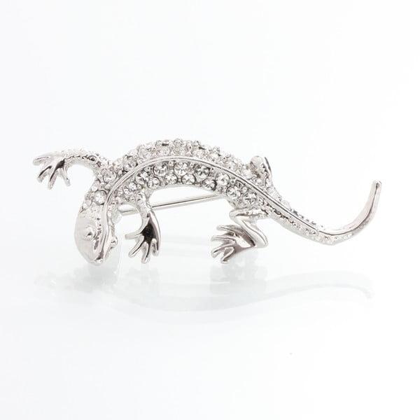 Broszka ze Swarovski Elements, mała jaszczurka