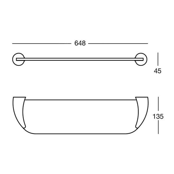 Półka Nikmatt, 64,8x4,5x13,5 cm