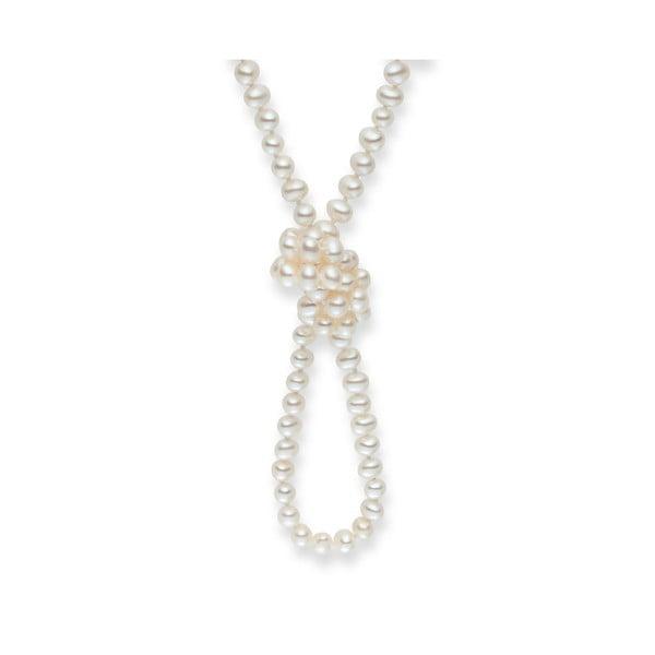 Biały naszyjnik perłowy Nova Pearls Copenhagen Emilie
