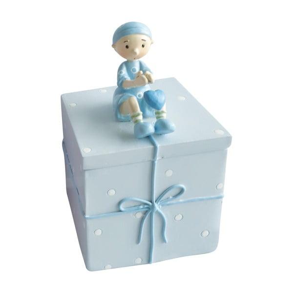 Niebieskie pudełko ozdobne na drobiazgi Cofanetto