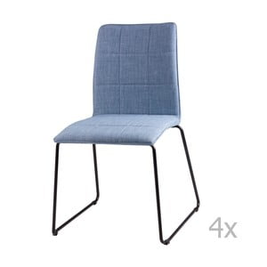 Zestaw 4 jasnoniebieskich krzeseł sømcasa Malina