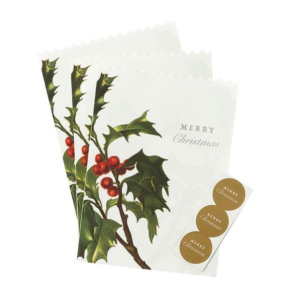 Zestaw 8 papierowych torebek Merry Christmas