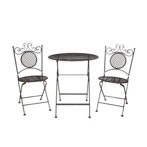 Komplet stołu ogrodowego i 2 krzeseł Clayre & Eef Garden Party