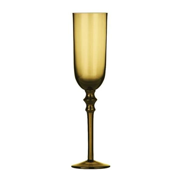 Zestaw 4 kieliszków do szampana Smoke Amber