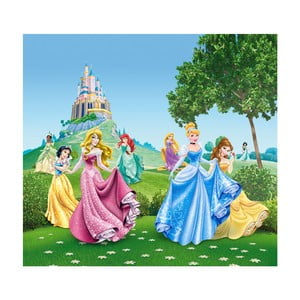 Foto zasłona AG Design Disney Królewny, 160x180cm