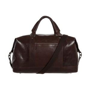 Podróżna torba skórzana Monty Dark Brown