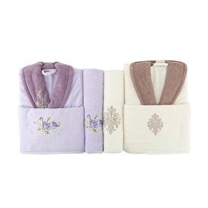 Rodzinny zestaw szlafroków i ręczników Famie Violet