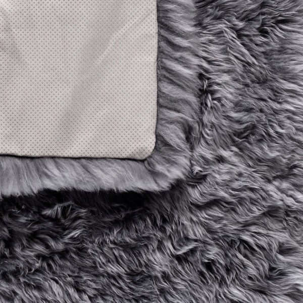 Szary dywan kwadratowy z owczej wełny Royal Dream Zealand