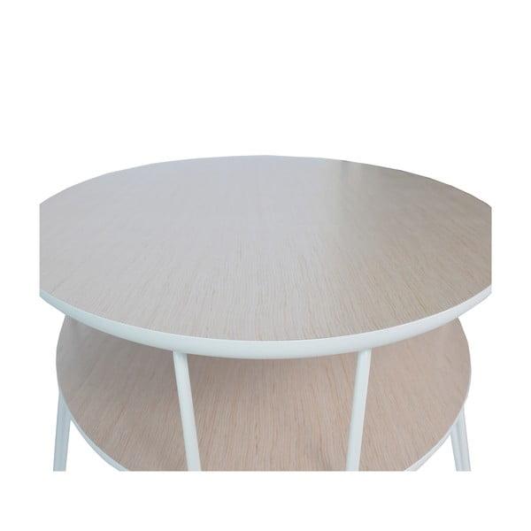 Stolik z białymi nogami RGE Leon, 150x65cm