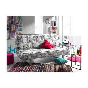 Czarno-biała sofa rozkładana Sinkro Peggy