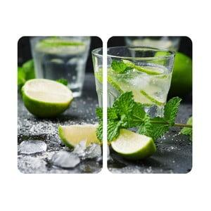 Zestaw 2 szklanych płyt na kuchenkę Wenko Mojito