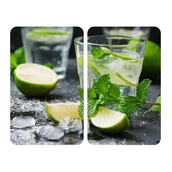 Zestaw 2 szklanych płyt ochronnych na kuchenkę Wenko Mojito