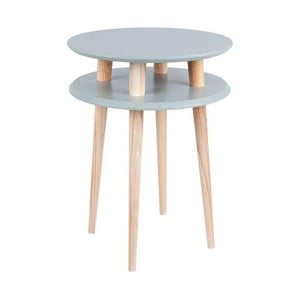 Ciemnoszary stolik Ragaba UFO, Ø 45 cm