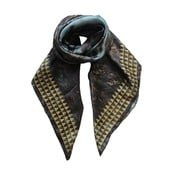Chusta jedwabna Lali Black, 130x130 cm