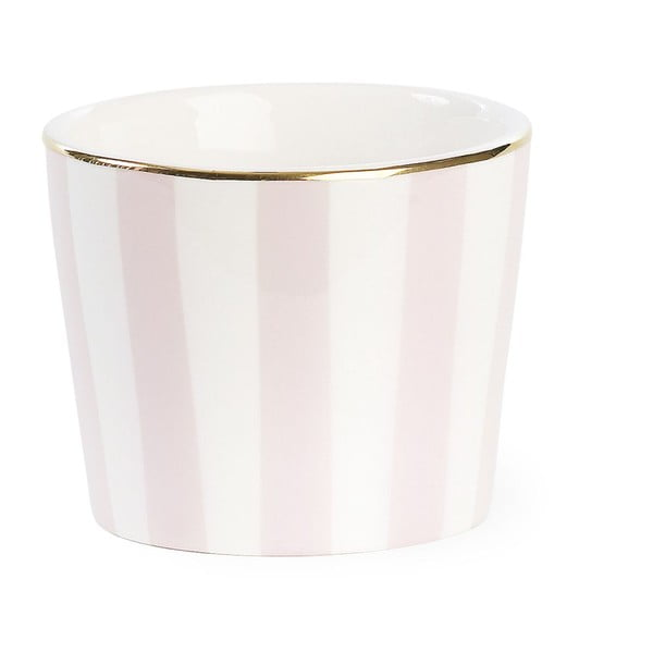 Doniczka ceramiczna Miss Étoile Stripe Rose, ø 10,5 cm