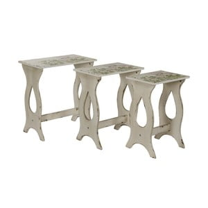 Komplet 3 stolików Seline
