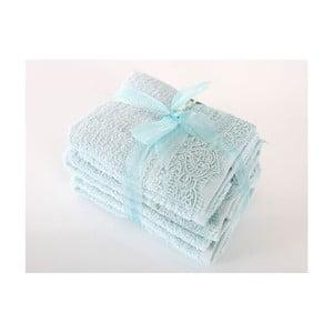 Komplet 4 niebieskich ręczników z bawełny premium Belinda