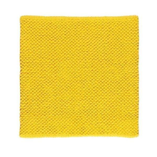 Dywanik łazienkowy Dotts Lemon Yellow, 60x60 cm