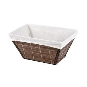Brązowy koszyk bambusowy Wenko Bamboo, szer. 31 cm