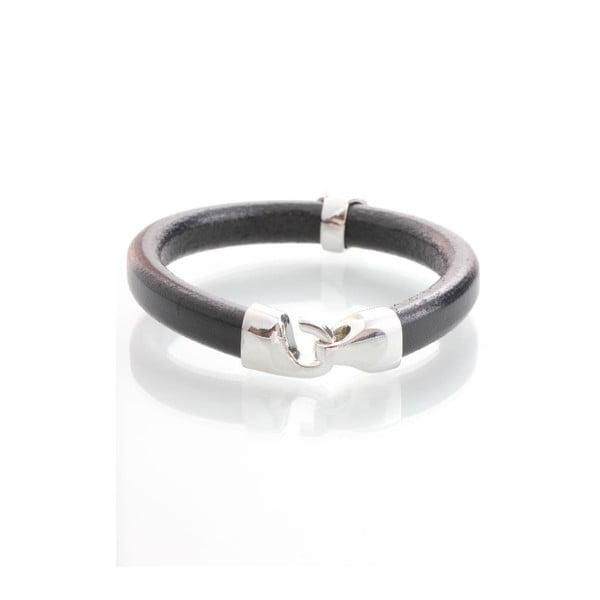 Ciemnoszara bransoletka z kryształami Swarovskiego Yasmine Clap
