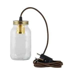 Lampa JamJar Lights, brązowy okrągły kabel