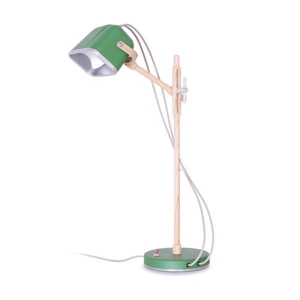 Lampa stołowa Mob Wood, zielona
