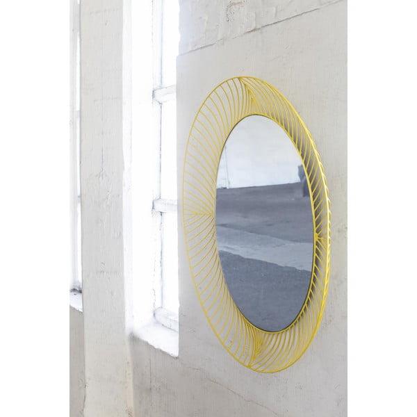 Żółte owalne lustro Serax Iron