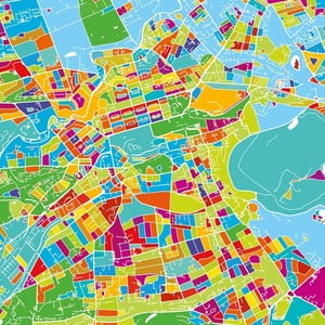 Obraz Homemania Maps Edinburgh, 60x60 cm