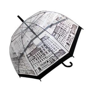 Przezroczysty parasol Temps City