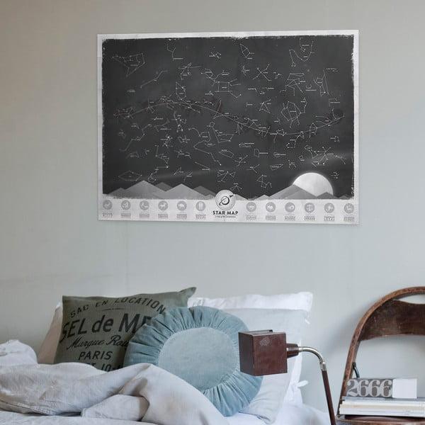 Mapa gwiezdnych konstelacji Luckies of London