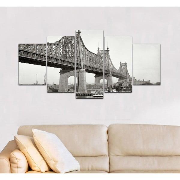 Wieloczęściowy obraz Black&White no. 98, 100x50 cm