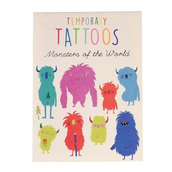 Zestaw 2 arkuszy tatuaży zmywalnych Rex London Monsters Of The World