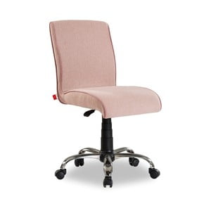 Jasnoróżowe krzesło na kółkach Soft Chair Pink