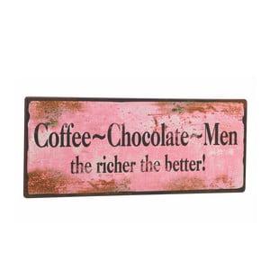"Tabliczka ""Coffee-Chocolate-Men"""
