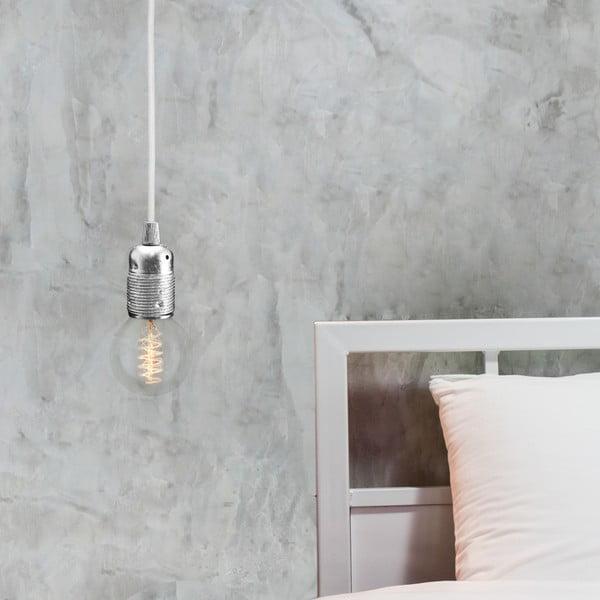 Srebrno-biała lampa wisząca Bulb Attack Uno