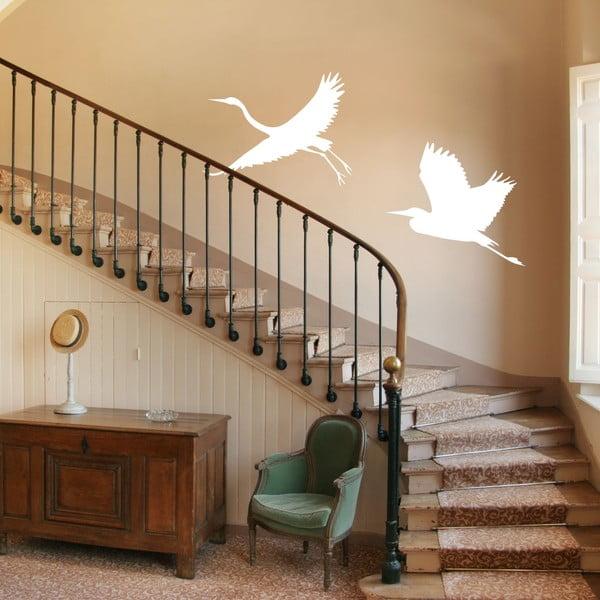 Naklejka winylowa Białe czaple na schodach