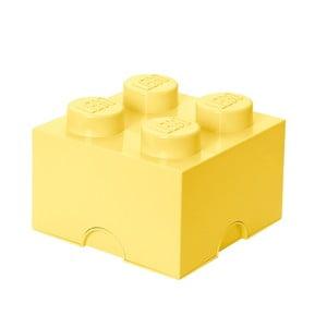 Jasnożółty kwadratowy pojemnik LEGO®