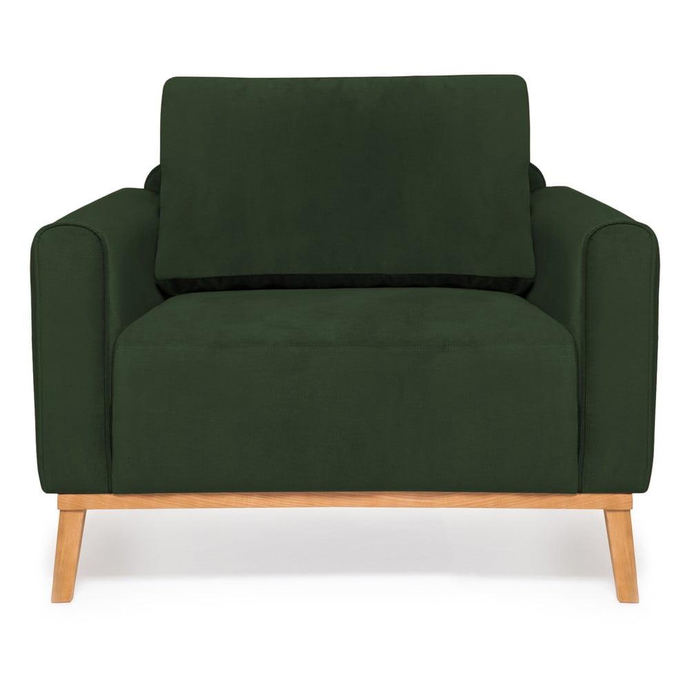 Ciemnozielony fotel Vivonita Milton Trend
